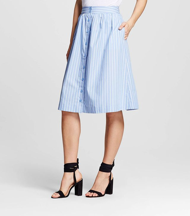 Who What Wear Spring 2017 Campaign Broadcloth Skirt