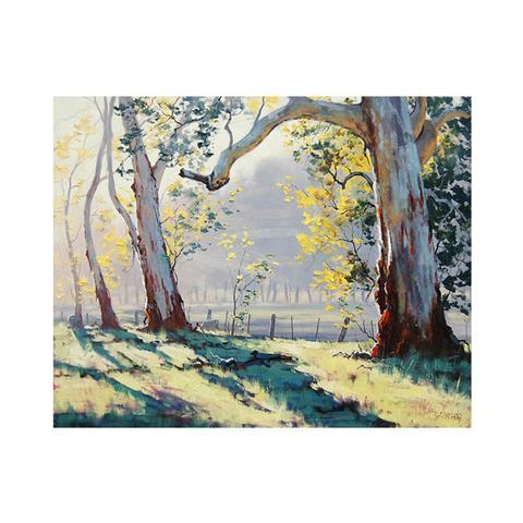 Australian Eucalyptus Trees Oil Painting