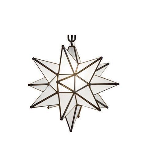 Quintana Roo Glass Moravian Star Pendant
