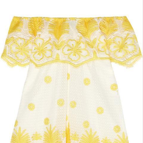 Angelique Cotton-Lace Mini Dress