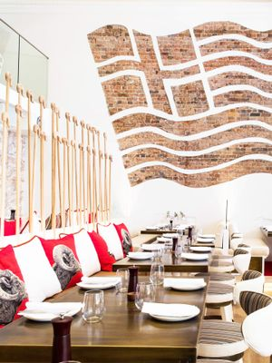 The Interior Is as Good as the Food at This Newly Opened Greek Restaurant