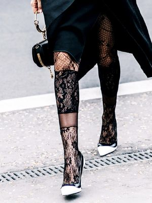 The Feminine Tights Trend It Girls Keep Wearing