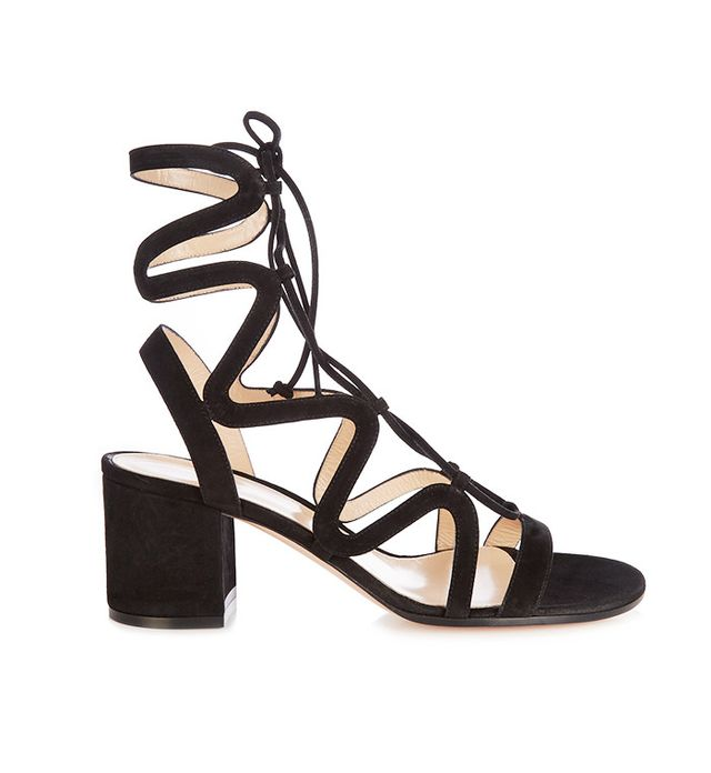 best lace-up sandals—Gianvito Rossi Lace-Up Suede Sandals