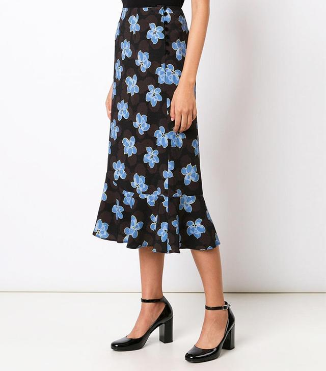 Suno Floral Print Skirt