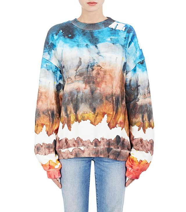 Acne Studios Tie-Dyed Cotton Fleece Sweatshirt