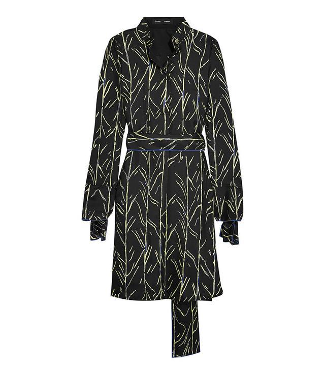Proenza Schouler Printed Silk-Twill Dress