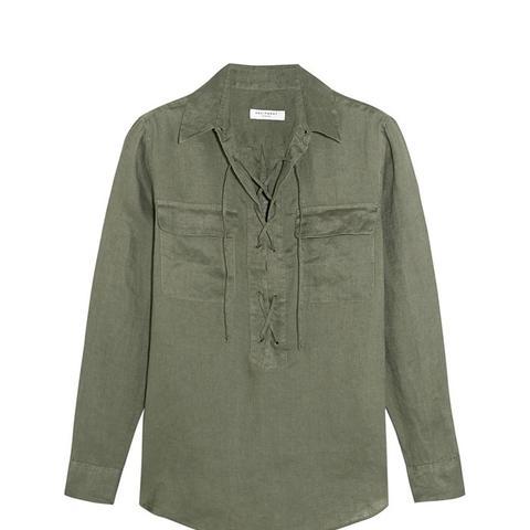 Knox Lace-Up Linen Shirt