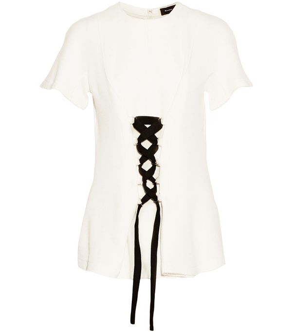 Proenza Schouler Lace-Up Stretch-Jersey Top