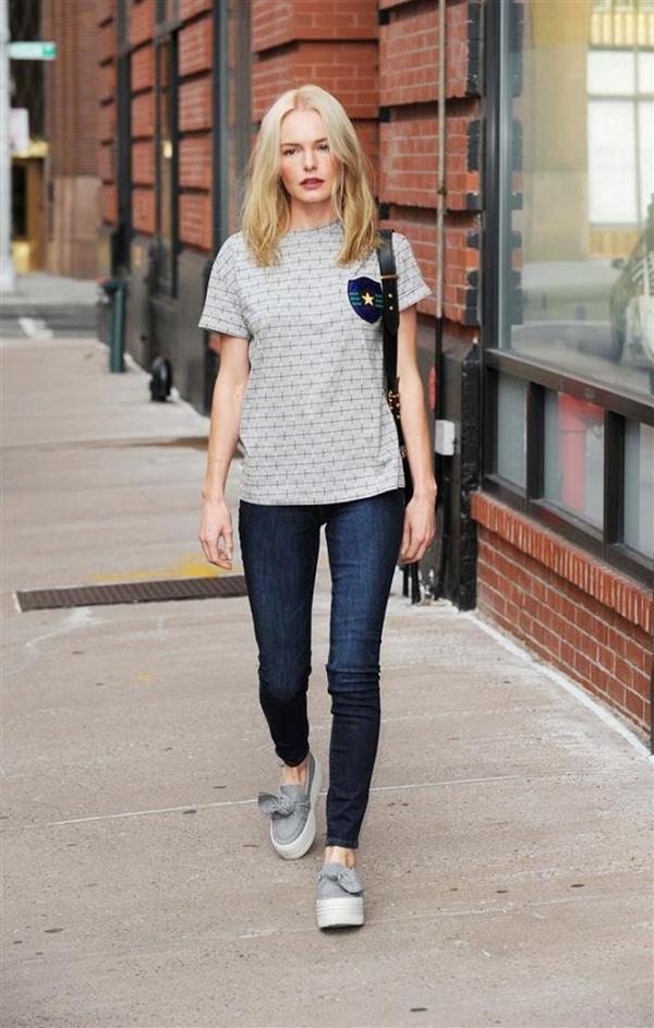 kate bosworth skinny jeans slip-on sneakers