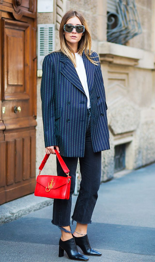 white and blue street style