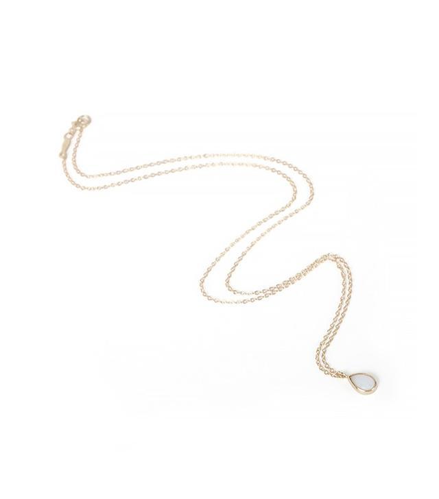 Catbird Jewelry Opal Teardrop Necklace
