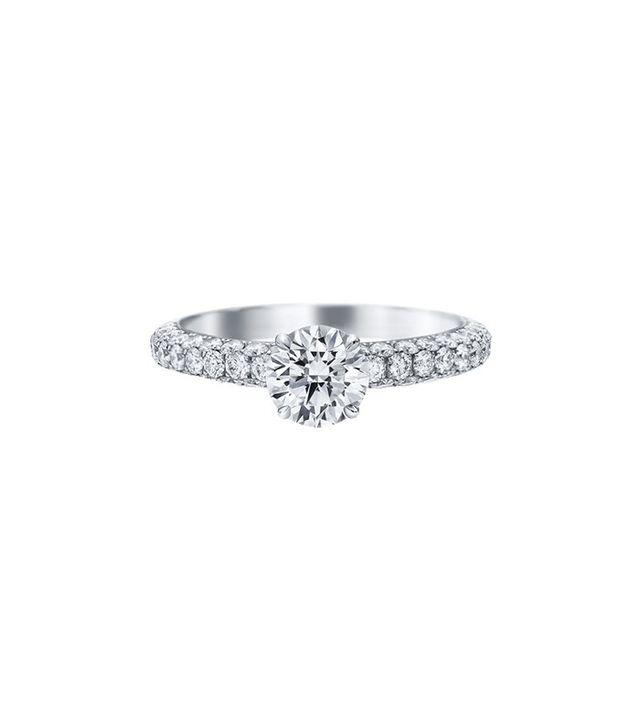 Harry Winston Attraction by Harry Winston, Round Brilliant Diamond Engagement Ring