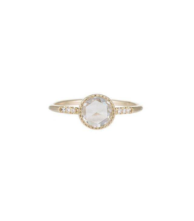 Jenny Kwon Designs Diamond Rose Cut Slice Equilibrium Ring