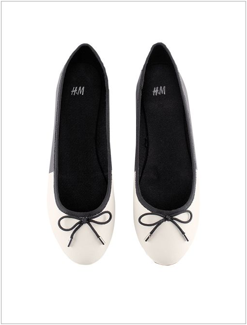 Ballet Flats ($18) in Black/White