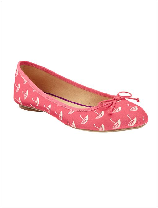 Printed Canvas Ballet Flats ($20) in Orange Umbrellas