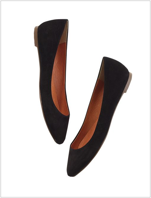 The Sidewalk Skimmer ($98) in Suede True Black