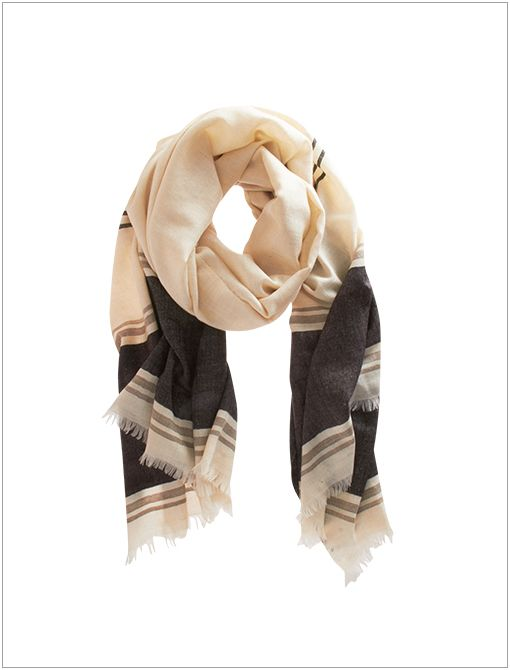 Stripe Trim Scarf ($450)