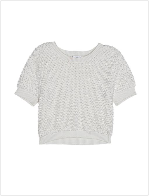 Hand Beaded Short-Sleeve Pullover ($335)