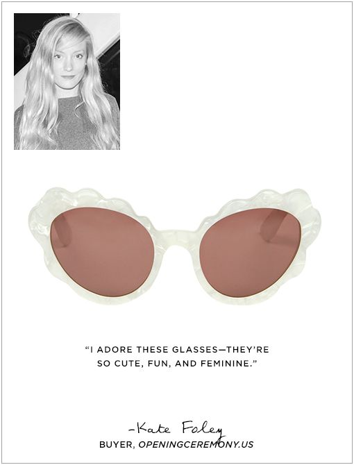 Flower Cat Eye Sunglasses ($165)Image courtesy of Billy Farrell Agency