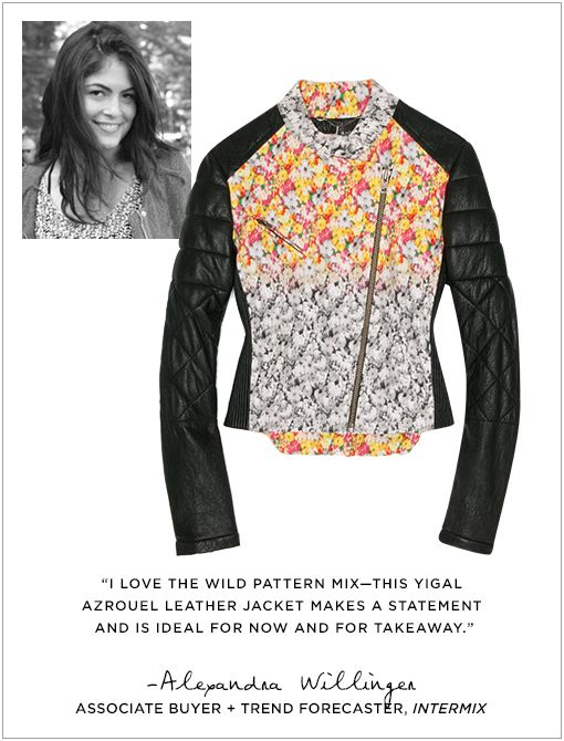 Floral Patch Leather Jacket ($1395)Image courtesy of Alexander Willinger