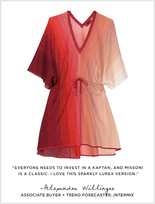 Mare Drawstring Caftan ($740) in Red