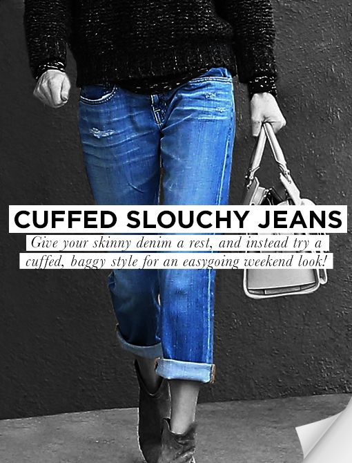 Cuffed Slouchy Jeans