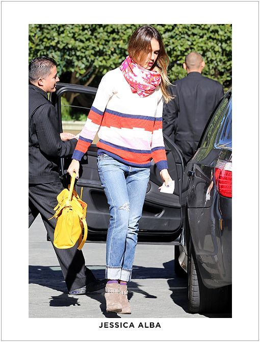 Actual Style: Level 99 Relaxed Lily Twill Jeans ($160) in Castaic BlueImage courtesy of FameFlynet Pictures