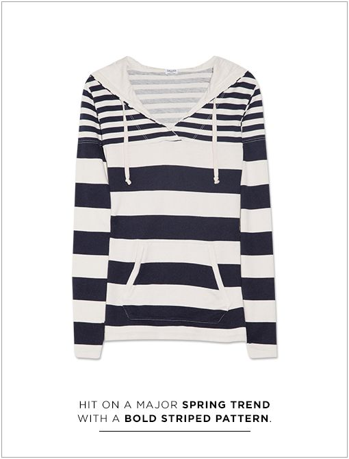 Striped Hooded Modal and Cotton-Blend Top ($128)