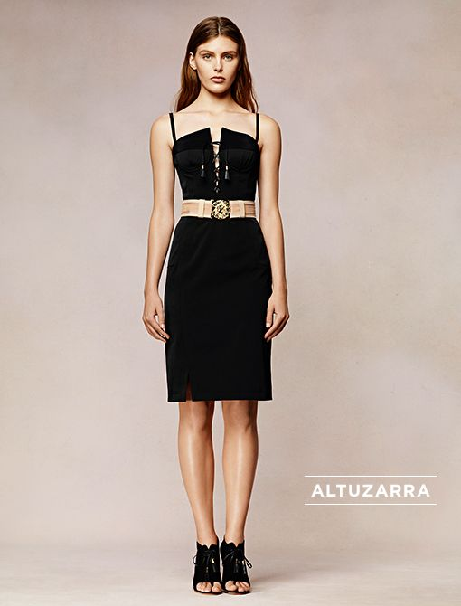 Sable Day Dress ($1575, 212.941.9656)Marley Belt ($395, 214.559.4510) in Blush Image courtesy of Altuzarra
