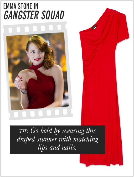 Vivienne Westwood Anglomania Aster Maxi Dress ($590, 323.951.0021)  As the featured actress amidst a bunch of dapper dudes, the sexy Stone doesn't need much more than her fiery red hair and...