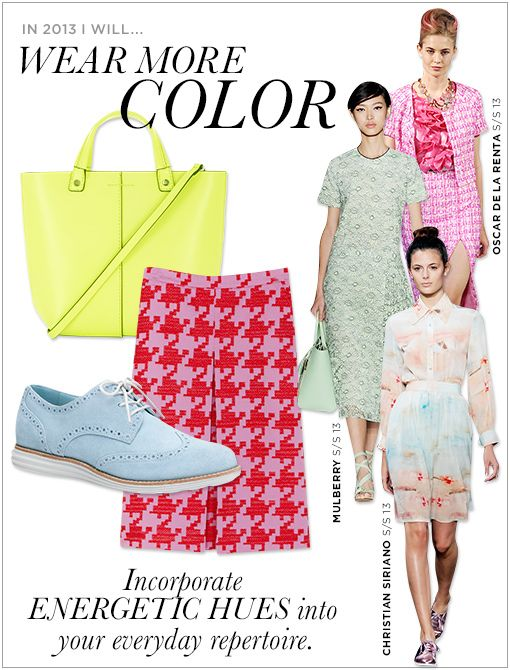 BCBGMaxazria Sienna Mini Tote Bag ($118)J.Crew Denise Wooly Houndstooth Skirt ($128, available late January)Cole Haan LunarGrand Wingtip ($248, 800.201.8001) Images courtesy of Getty Images,...
