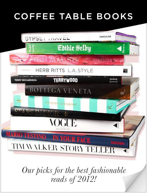 2012 Coffee Table Books