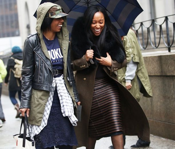 Street Style: Stripe Umbrellas