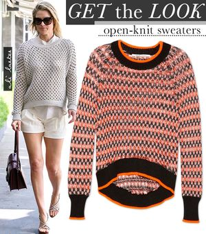 Ali Larter Shows You How To Wear The Open-Knit Sweater