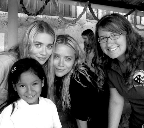 Ashley and Mary-Kate Olsen on a charity trip to Honduras with Toms in 2011.