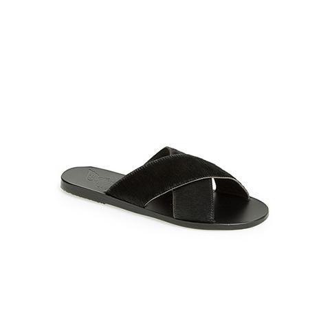 Thais Calf Hair Sandals
