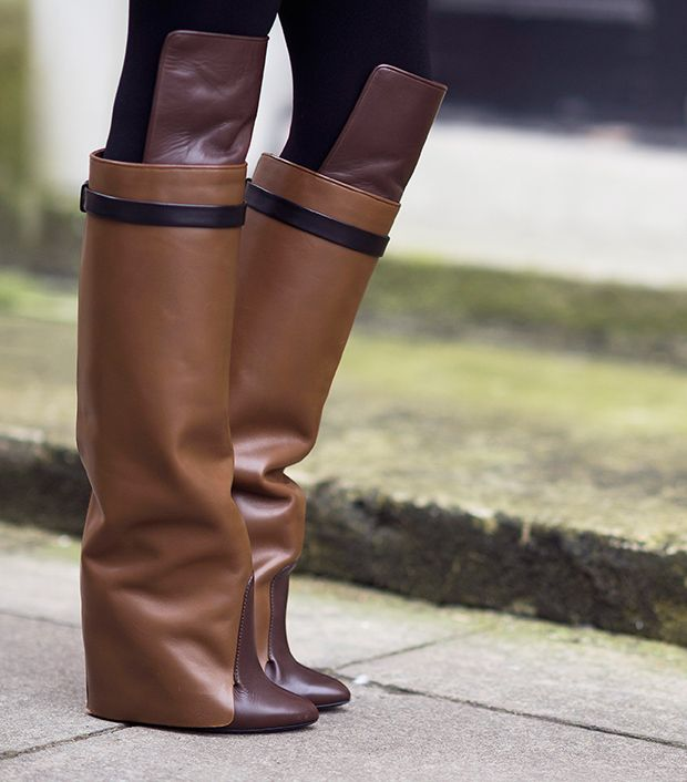 Style note: Give your look an equestrian vibe with over-the-knee riding boots.