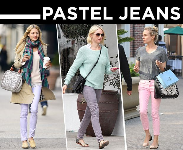 Give Your Look A Springtime Update With Pastel Jeans