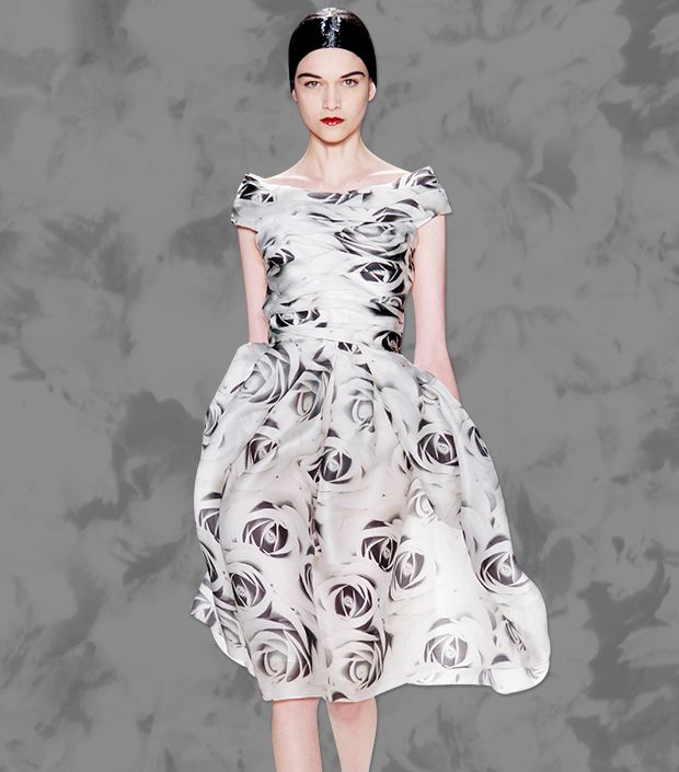 Try The Season's Coolest Print: Black & White Florals