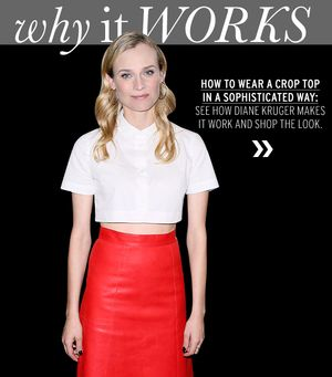 Diane Kruger Gives The Crop Top A Sophisticated Spin