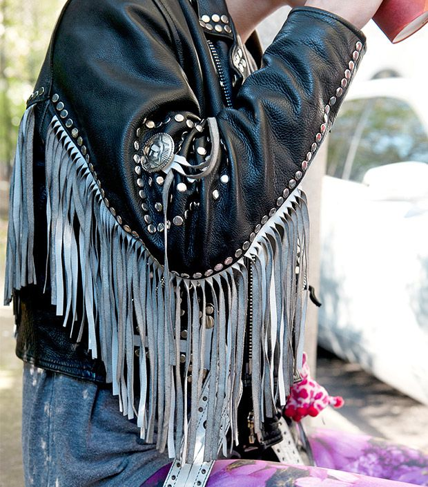 Channel Your Inner Rocker With A Fringed Jacket
