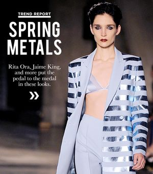 Shine In One Of Spring's Pretty Metallic Pieces