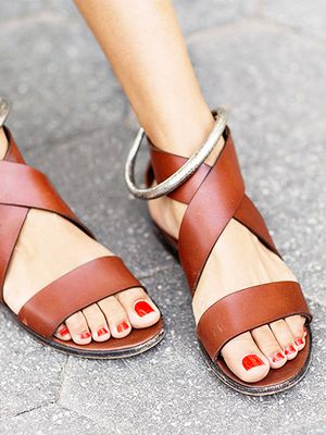 #TuesdayShoesday: Shop Our Favorite Flat Leather Sandals