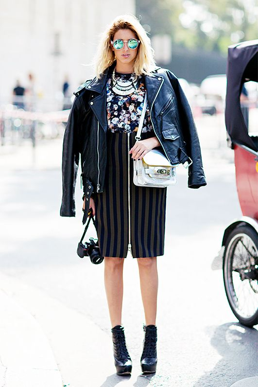 1. Fact: a metallic bag dresses up any outfit.