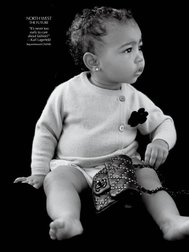North West Dripping In Chanel For 'CR Fashion Book'
