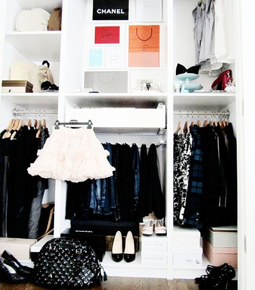 Display your upcoming looks in an easy-to-reach area.
