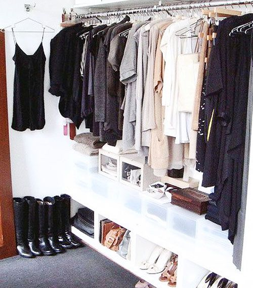 Opt for thin hangers to save space.