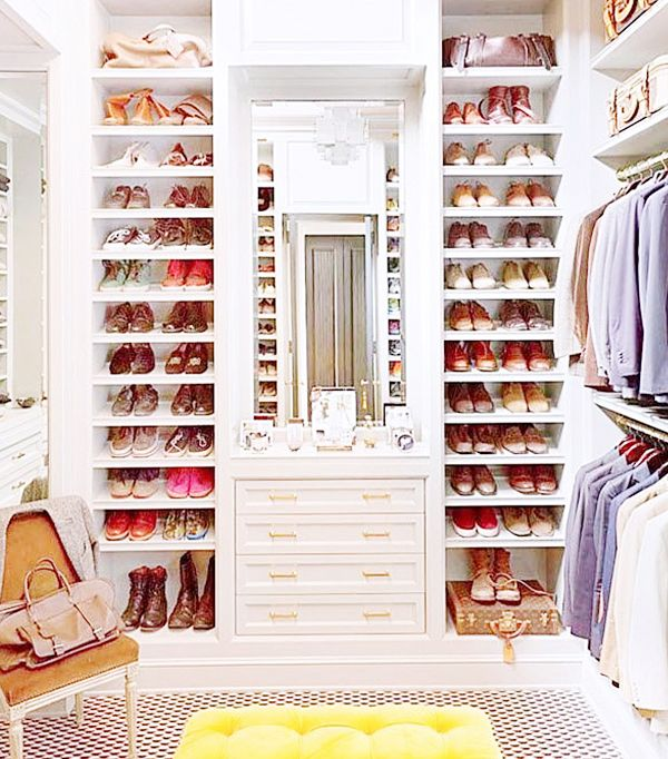 Store your go-to shoes toward the front of your closet.
