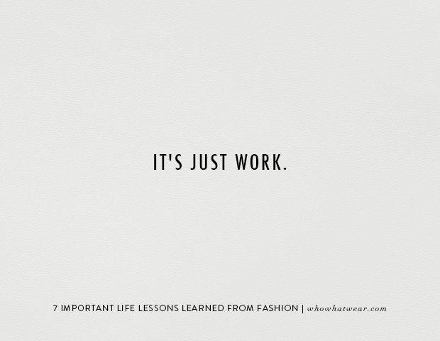 Life Lessons from Fashion
