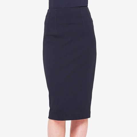 Long Jersey Pencil Skirt